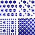 Design seamless cornflower pattern vector art Stock Images