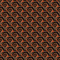 Design seamless decorative spiral pattern vector art Royalty Free Stock Image