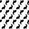 Design seamless easter bunny rabbits pattern monochrome background vector art Royalty Free Stock Photos