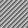 Design seamless monochrome diagonal pattern vector art Royalty Free Stock Photography
