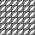 Design seamless monochrome geometric pattern vector art Stock Photos
