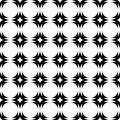 Design seamless monochrome geometric pattern vector art Stock Image