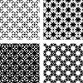 Design seamless monochrome pattern vector art Royalty Free Stock Photography