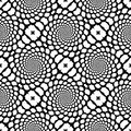 Design seamless monochrome snakeskin pattern spiral movement abstract background in op art style vector art Stock Photography