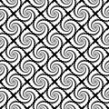 Design seamless monochrome spiral pattern geometric abstract diagonal textured background vector art Stock Photo