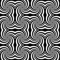 Design seamless monochrome whirl rotation pattern. Stock Photography