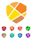 Design shield logo element colorful abstract pattern icon set you can use in the security companies insurance companies safe and Royalty Free Stock Photos