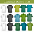 Design shirt set. Royalty Free Stock Images