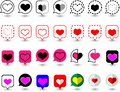 `Design speech bubble icons with various love symbols in the form of vectors.Suitable for designing graphic works in love theme.Mo