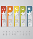 Design star number banners template. with set of business icons. Royalty Free Stock Photo