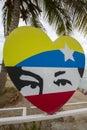 Design of stylized eyes of Hugo Chavez Royalty Free Stock Photo