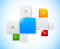 Design of tiled interface bright illustration Stock Photos
