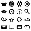 Design useful web icons on white background stock vector Royalty Free Stock Photos