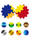 Design vector gears logo element colorful abstract pattern icon set you can use the machinery factories games app electronic Royalty Free Stock Images
