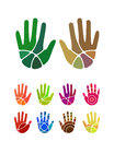 Design vector hand logo element colorful abstract pattern icon set Stock Photos