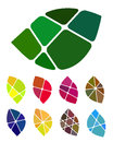 Design vector leaf logo element colorful abstract pattern icon set Royalty Free Stock Image