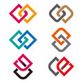 Design vector logo template g c e o s letters icon set you can use in the commerce financial construction spinning and Stock Image
