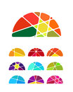 Design vector semicircular logo element colorful abstract pattern icon set you can use environmental protection resource recovery Royalty Free Stock Image