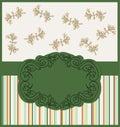 Design, vintage frame. Invitation. vector Stock Images