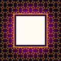 Design violet pattern frame Stock Photo