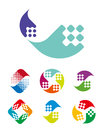 Design wave logo element abstract water vector template set Royalty Free Stock Image