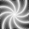 Design whirl movement illusion background monochrome abstract striped lines distortion backdrop vector art illustration Royalty Free Stock Image