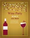 Design for wine event. Suitable for poster, promotional leaflet, invitation, banner