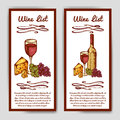 Design for wine list. Restaurant template for invitation, menu, banner or etc. Wine concept design. Vector illustration Royalty Free Stock Photo