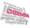 Design Words Collage Creative Perspective Style Royalty Free Stock Image