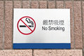 Designated no smoking area sign Royalty Free Stock Photo