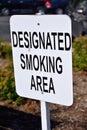 Designated smoking area Royalty Free Stock Photo