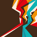 Designed angular abstraction. Royalty Free Stock Photo