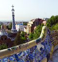 Designed by antonio gaudi in park guell barcelona architecture Royalty Free Stock Image