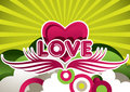 Designed love background Stock Images