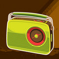 Designed retro radio background Royalty Free Stock Photography