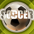 Designed soccer banner Royalty Free Stock Images