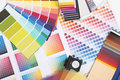 Designer coloured swatches Royalty Free Stock Photos