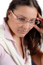 Designer glasses - trendy woman fashion Stock Photo