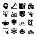 Designer icon set Royalty Free Stock Photo