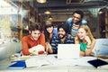 Designer Teamwork Brainstorming Planning Interior Concept Royalty Free Stock Photo