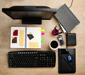 Designer working desk Stock Photo