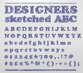 Designers sketched ABC Royalty Free Stock Photos