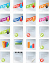 Designers toolkit- web 2.0 icons Royalty Free Stock Photo