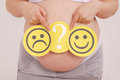 Desirable or not desirable pregnancy Stock Photos