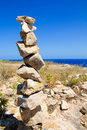 Desire make a wish stacked stones mound Royalty Free Stock Photography