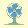 Desk air electric fan flat design