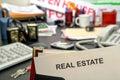 Desk document estate real realtor Стоковые Фото