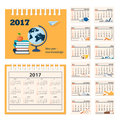 Desk education calendar 2017 year