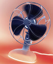 Desk fan negative image of a retro style desktop electric Royalty Free Stock Image
