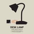 Desk lamp black vector illustration Stock Images